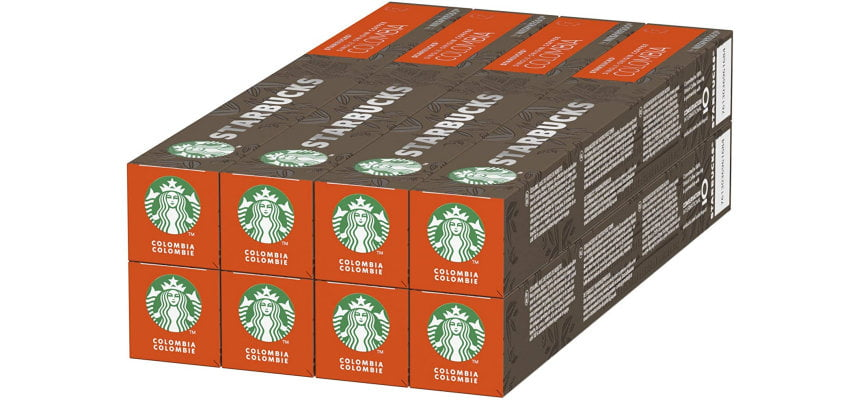Pack 80 cápsulas Starbucks Single Origin Colombia barato, ofertas en cápsulas Nespresso