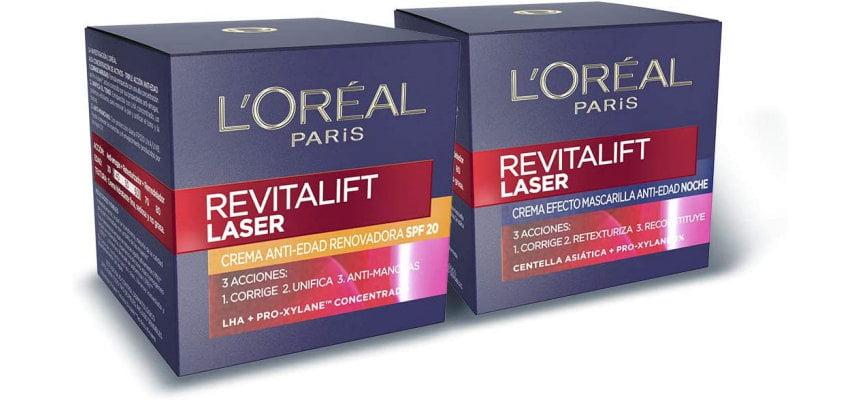 Pack cremas L'Oreal Revitalift Laser SPF 20 y Noche baratas, ofertas en cremas L'Oreal Revitalift