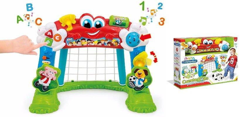 Portería de fútbol interactiva Baby Clementoni barata, ofertas para niños