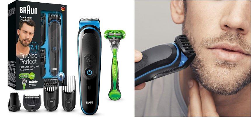 Recortadora 7 en 1 Braun MGK3042 barata, ofertas en afeitadoras