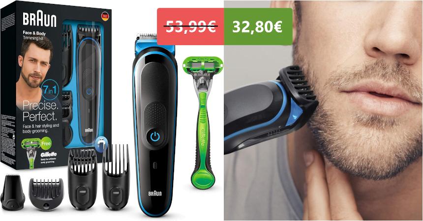Recortadora 7 en 1 Braun MGK3042 barat, ofertas en afeitadoras