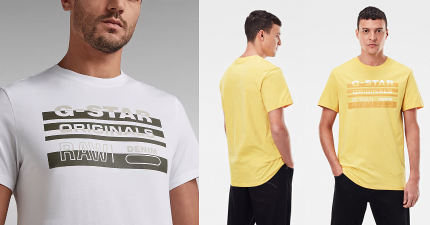 Camiseta G-Star Raw Originals Stripe barata, ofertas en ropa de marca