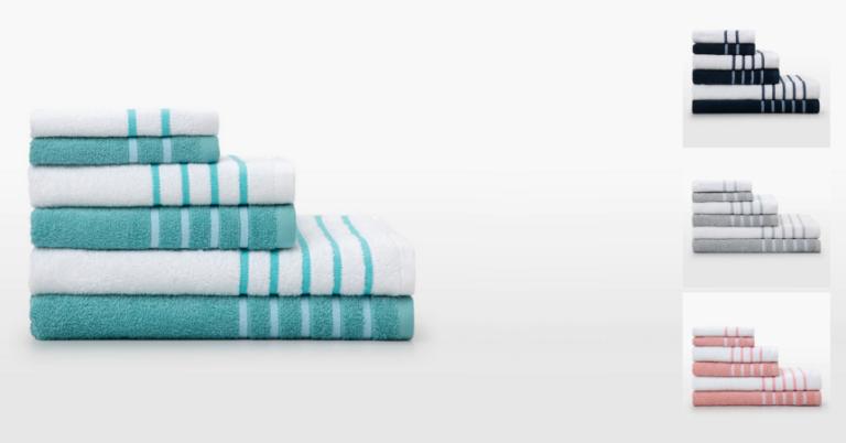 ¡TOMA CHOLLO! Juego de 6 toallas de baño Volga Basics solo 12,45 euros. 50% de descuento.