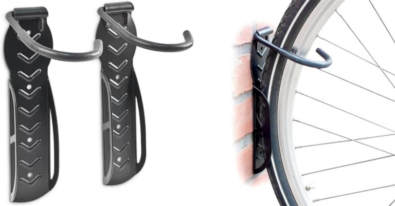 ¡TOMA CHOLLO! Pack de 2 soportes de bicicleta Relaxdays solo 7,50 euros. 42% de descuento.
