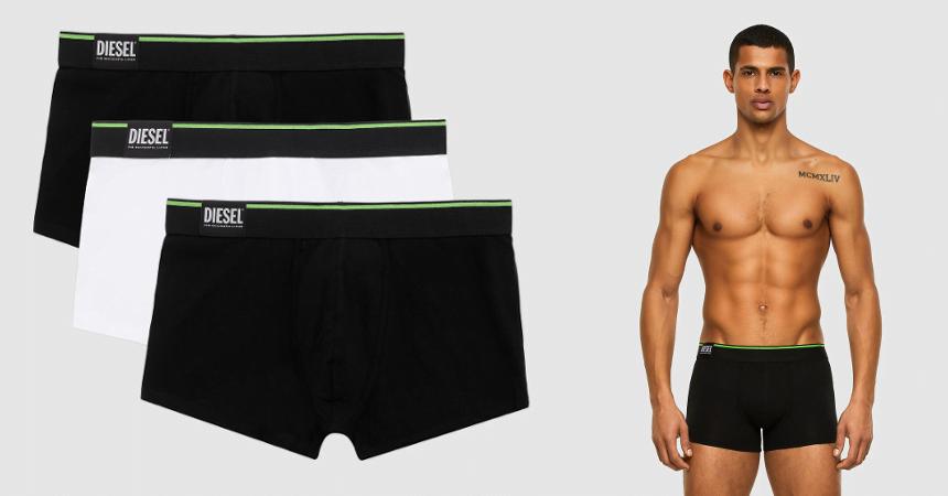 Pack de 3 boxers Diesel baratos, ropa de marca barata