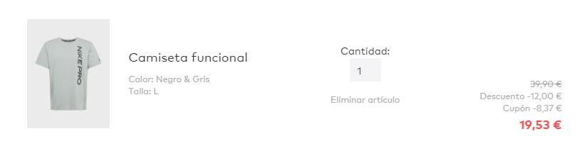 """Camiseta Nike Pro Â¡TOMA CUPÃ""""N! Camiseta Nike Pro solo 19,53 euros. 51% de descuento."""