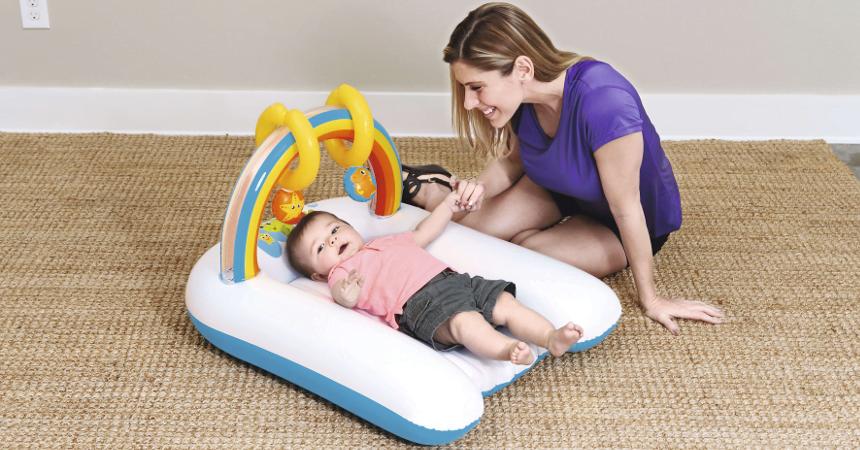 Colchoneta hinchable y cambiador Bestway barata, ofertas para bebés