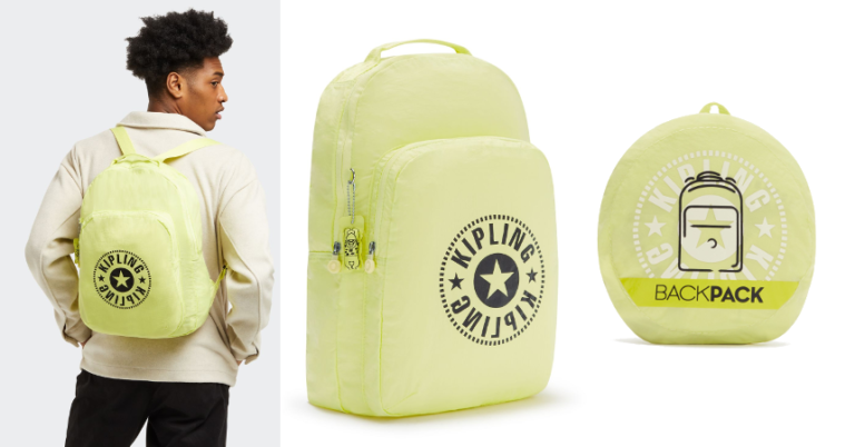¡TOMA CHOLLO! Mochila plegable Kipling Backpack solo 12,75 euros. 72% de descuento. Mínimo histórico.