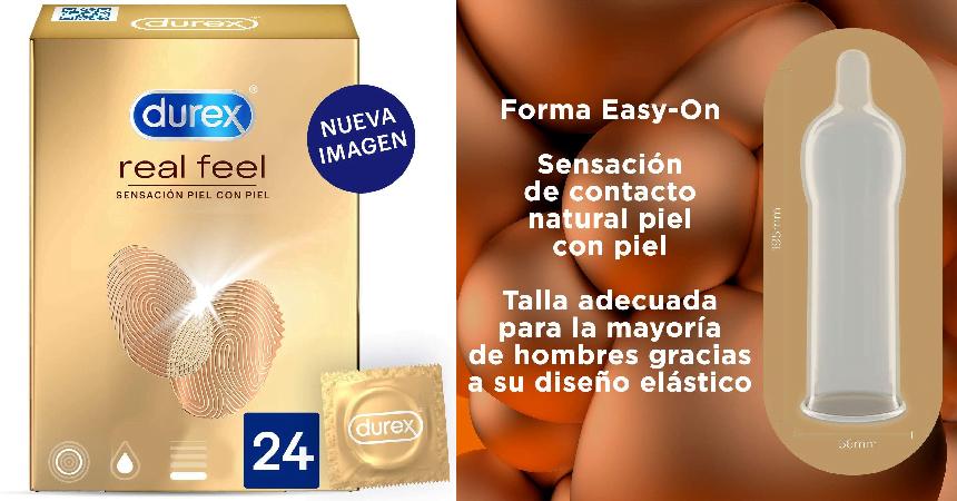 Pack de 24 preservativos Durex Real Feel baratos, ofertas en condones