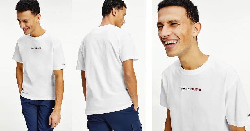Camiseta Tommy Jeans linear barata, ofertas en ropa de marca