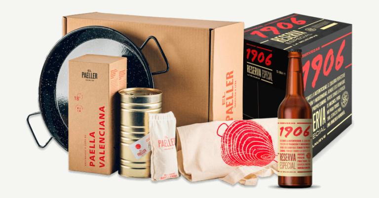 ¡TOMA CUPÓN! Kit de paella valenciana + 12 botellas Estrella Galicia 1906 Reserva Especial solo 48,56 euros.