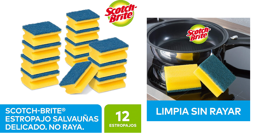 Pack de 12 estropajos Scoth Brite baratos, ofertas en hogar