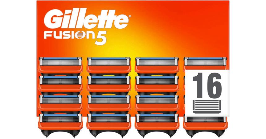 Pack de 16 cuchillas Gillette Fusion 5 baratas, ofertas en cuchillas Gillette Fusion 5, cuchillas Gillette baratas