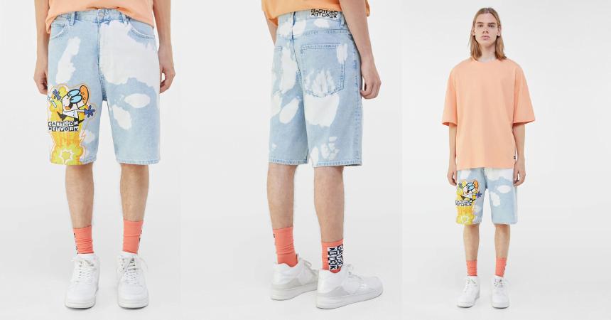 Pantalón corto Bershka El Laboratorio de Dexter barato, ofertas en ropa