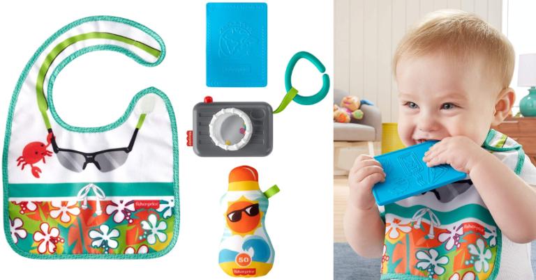 ¡TOMA CHOLLO! Set de regalo para bebé Fisher Price Tiny Tourist solo 4,36 euros. 78% de descuento. Mínimo histórico.