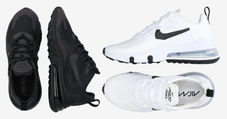 ¡TOMA CHOLLO! Zapatillas Nike Air Max 270 React para mujer solo 44,90 euros. 72% de descuento.