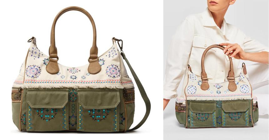 Bolso Desigual Fabric barato, ofertas en bolsos de marca