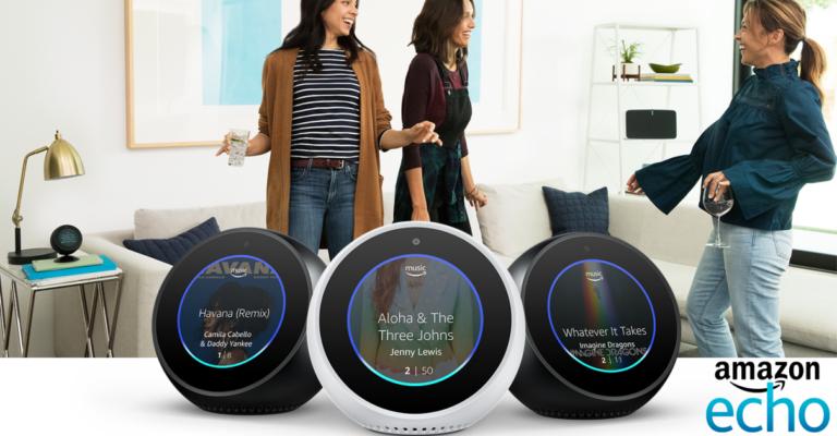 ¡TOMA CHOLLO! Amazon rebaja su altavoz inteligente Echo Spot a solo 74,99 euros. ¡Ahorrate 55 euros en su compra!