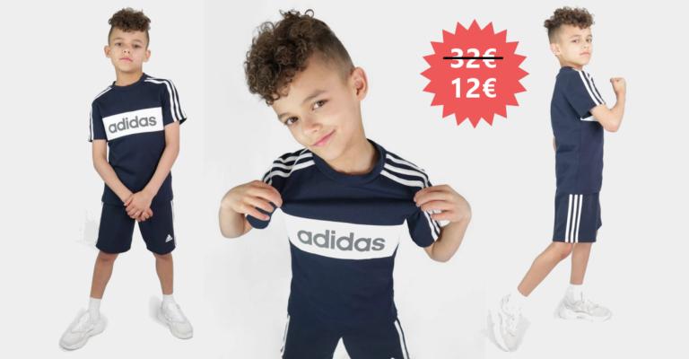 ¡TOMA CHOLLO! Conjunto infantil Adidas Linear Essential solo 12 euros. 62% de descuento.