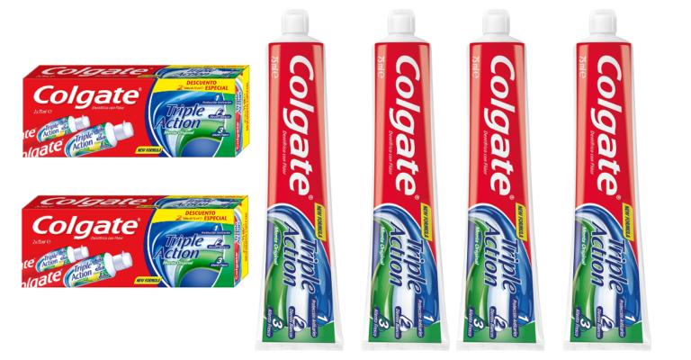 ¡TOMA CHOLLO! Pack 4 tubos de pasta de dientes Colgate Triple Acción solo 2,97 euros.